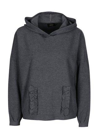 Sivý sveter s kapucňou ONLY Gia