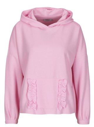 Růžový svetr s kapucí ONLY Gia