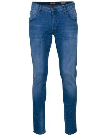 Modré pánské skinny s vyšisovaným efektem džíny Blend