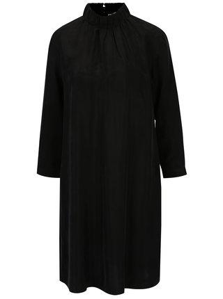 Čierne šaty so stojáčikom a dlhým rukávom Selected Femme Gracy