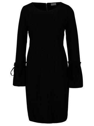Černé šaty s volány na rukávech VILA Bekky