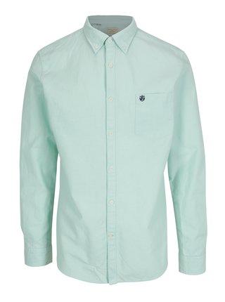 Svetlozelená regular fit košeľa Selected Homme