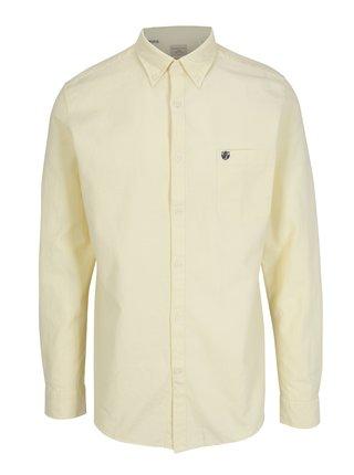 Svetložltá regular fit košeľa Selected Homme