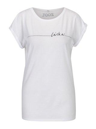 Bílé dámské tričko s potiskem ZOOT Original Láska