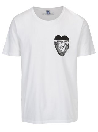 Bílé pánské tričko ZOOT Original Jsem srdcař