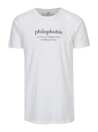 Bílé pánské long fit tričko ZOOT Original Philophobia