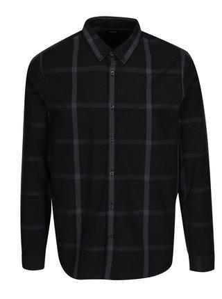 Černá kostkovaná košile Burton Menswear London