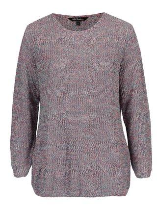39eb376bb742 Modro-ružový rebrovaný sveter Ulla Popken