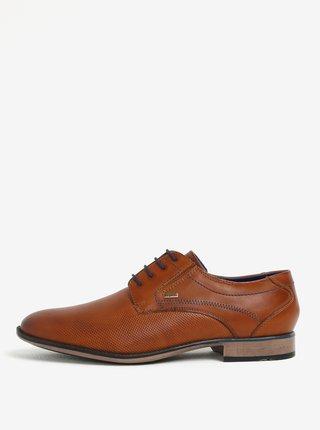 Pantofi maro din piele cu model perforat pentru barbati - bugatti Gaspare
