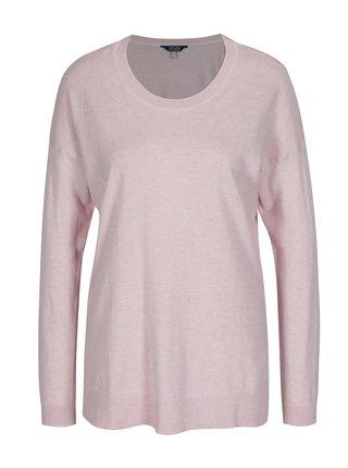 Světle růžový dámský svetr s rozparkem na boku Tom Joule Sally