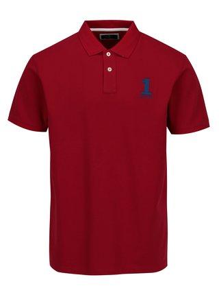 Červené polo tričko s výšivkou Hackett London New Classic