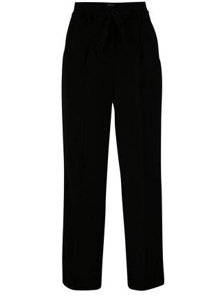 Černé kalhoty s vysokým pasem VILA Blamy