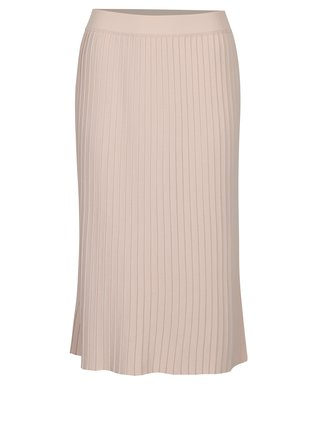 Staroružová plisovaná midi sukňa VILA Plissani