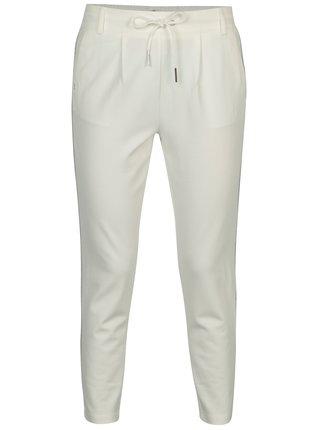 Krémové kalhoty s pruhy ve stříbrné barvě ONLY Poptrash
