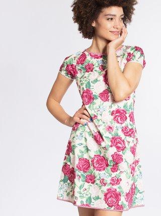 a536ac261c76 Krémové květované šaty Blutsgeschwister