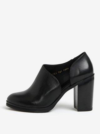Pantofi negri din piele cu toc inalt pentru femei - Royal RepubliQ