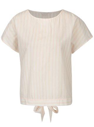 Bluza lejera alb-roz cu dungi si funda la spate Jacqueline de Yong Battle