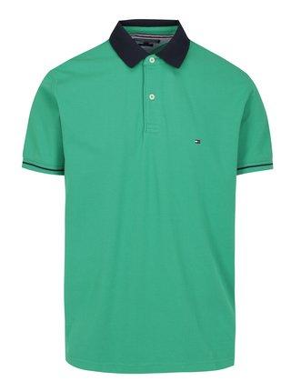 Zelené pánské polo tričko Tommy Hilfiger