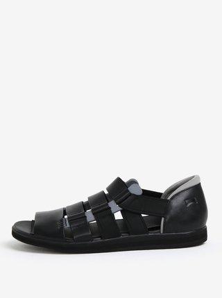 Černé pánské kožené sandály Camper