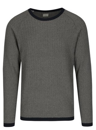 Pulover bleumarin cu model tricotat - Selected Homme Lambert