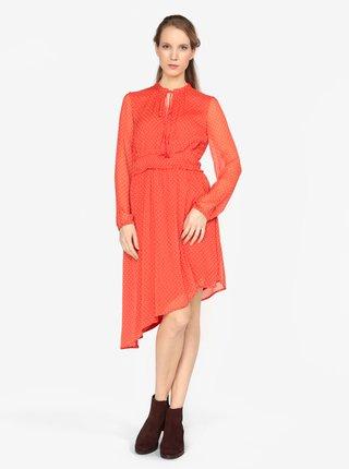 88f6b9d15b6f Červené asymetrické šaty s dlhým rukávom VERO MODA Lotta