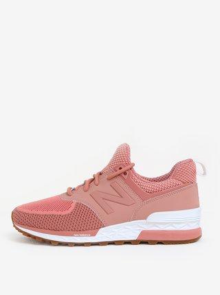 Pantofi sport roz-prafuit pentru femei New Balance 574