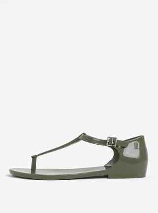 Kaki sandále s prackou Melissa Honey