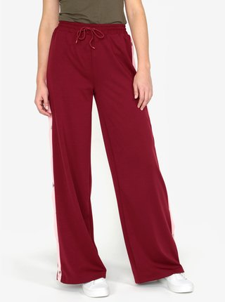Vínové kalhoty s vysokým pasem MISSGUIDED