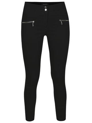 Pantaloni skinny fit negri cu fermoare - Dorothy Perkins