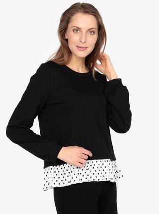 Bluza neagra subtire cu terminatie cu buline - VERO MODA Linit