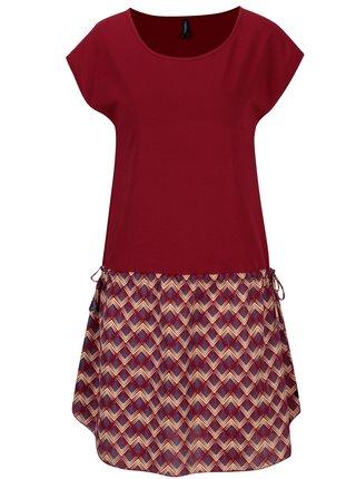 Vínové šaty so sťahovaním na bokoch Tranquillo Phelia