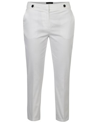 Pantaloni 3/4 albi cu nasturi decorativi  Dorothy Perkins