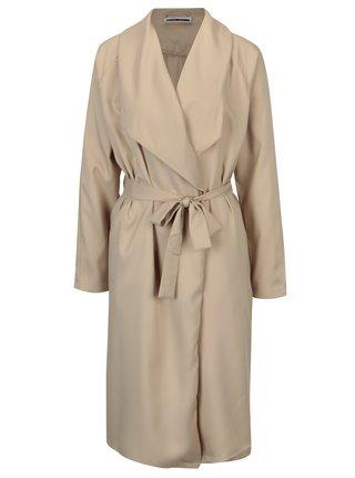 Béžový tenký kabát so zaväzovaním Noisy May Fia