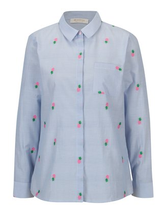 Camasa straight fit albastru & alb cu model - Rich & Royal