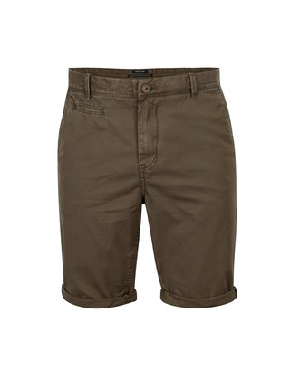 Pantaloni scurti chino kaki slim fit pentru barbati - Garcia Jeans Santo