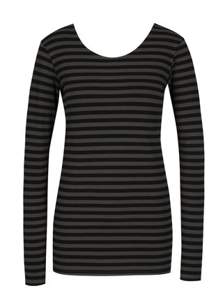 Bluza negru&gri in dungi pentru femei - Garcia Jeans