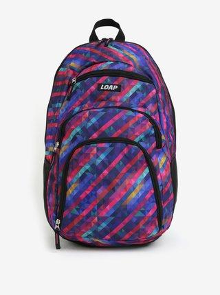 Růžovo-modrý dámský vzorovaný batoh LOAP Reny 20 l