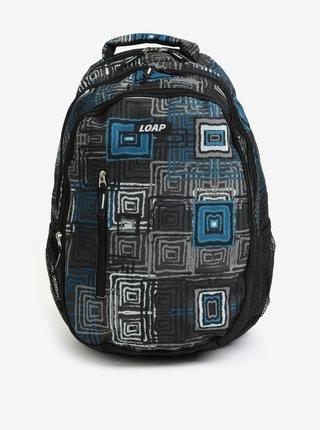 Rucsac urban negru cu print geometric  LOAP Lian 20 l