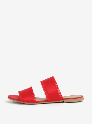 Papuci rosii cu franjuri  Pieces Mio