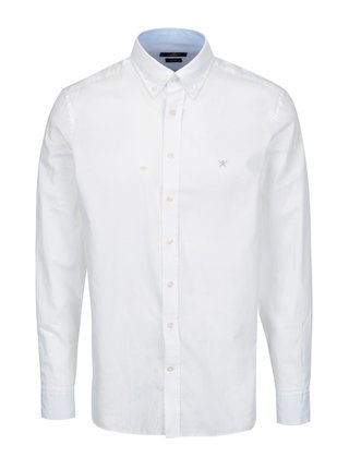 Camasa alba slim fit cu guler button down - London Oxford