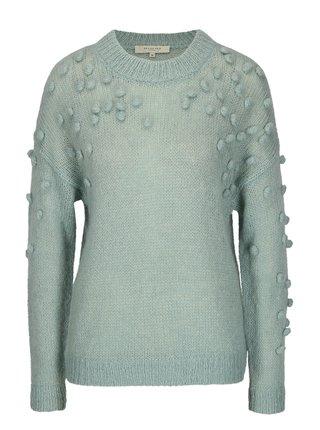 Mentolový sveter s prímesou mohéru Selected Femme Nora
