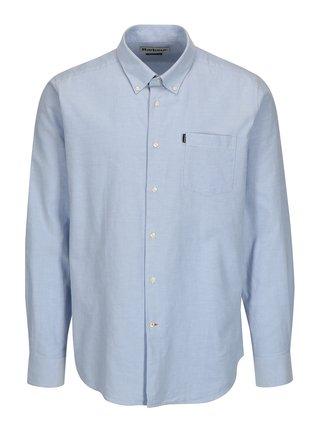 Camasa tailored fit bleu cu guler buttons-down Barbour Stanley