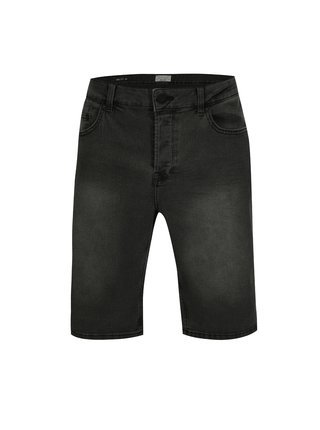 Tmavě šedé džínové kraťasy ONLY & SONS Ply