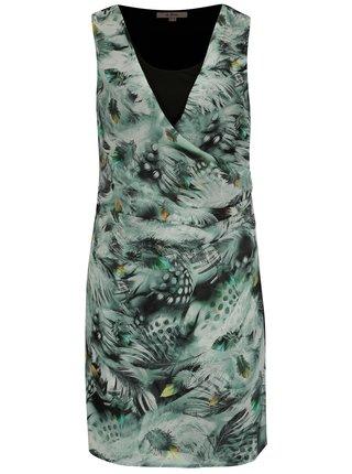 Čierno-zelené šaty so vzorom La Lemon