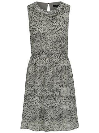 Svetlosivé šaty s leopardím vzorom Smashed Lemon