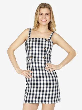Krémové kárované šaty Miss Selfridge