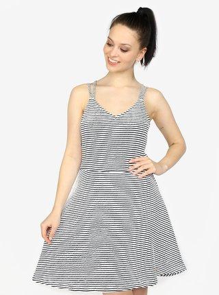 Modro-biele pruhované áčkové šaty Superdry