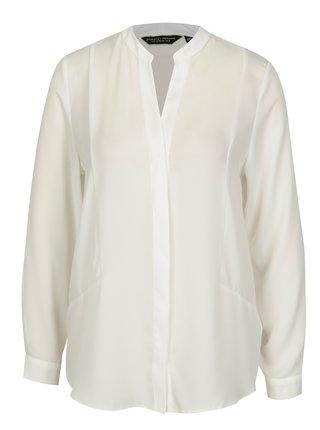 Biela košeľa so skrytou légou Dorothy Perkins