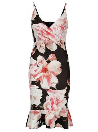 Černé pouzdrové květované šaty Scarlett B