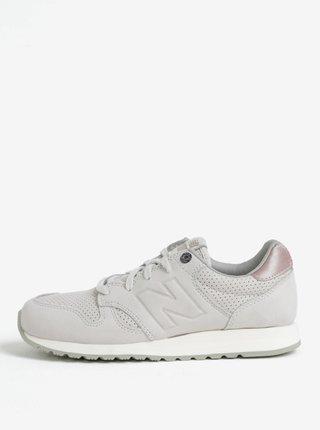 Růžovo-šedé dámské semišové tenisky New Balance 520
